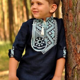 "Ексклюзивна дитяча вишиванка для хлопчика з орнаментом ""Бандура"""