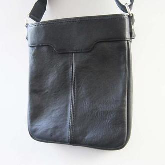 Универсальная сумка из натуральной кожи через плечо с двумя отделениями.