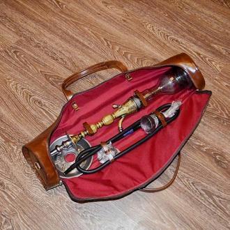 Дорожная сумка, сумка для кальяна, кожаная сумка для переноски кальяна