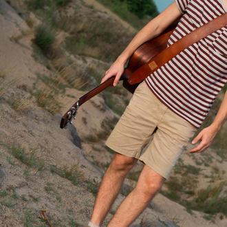 Ремень для гитары, кожаный ремень для акустической гитары