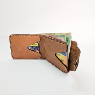 Кожаный кошелек, мужской кошелек, портмоне из натуральной кожи