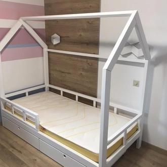 Ліжечко будиночок з вільхи з ящиками