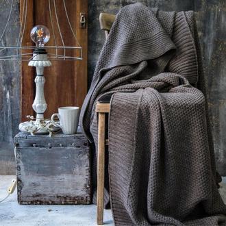 Покрывало вязаное СКАЙЛ 200х220 холодный капучино