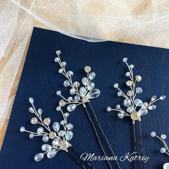 Шпильки в прическу, набор булавок, украшения для невесты,