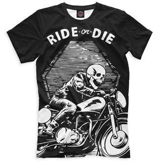 Футболка с дизайнерским рисунком Ride or die
