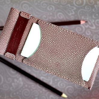 Женский кожаный пенал Подарок девушке Кожаный аксессуар