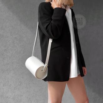 Кожаная белая сумка,Шкіряна біла сумка
