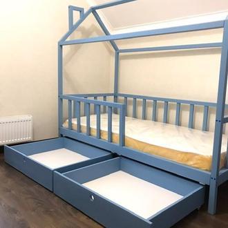 Ліжечко будиночок з ясена з ящиками
