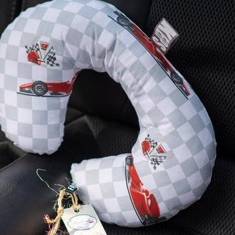 детская дорожная подушка подголовник в авто, автокресло
