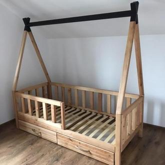 Ліжечко Віг-вам з вільхи з ящиками