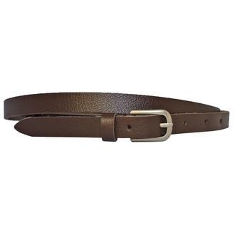 Ремень женский кожаный коричневый узкий Classica1k15