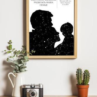 Карта звёздного неба 016