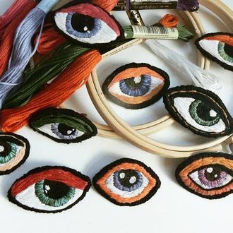 Вышитая Брошка Третий глаз