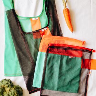 """Набор стартовый """"Новичок""""из 4 мешочков, набор сумок для покупок 4 шт."""