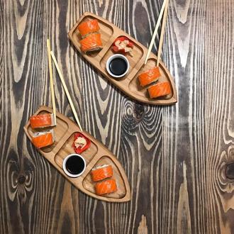 Порционная тарелка для суши