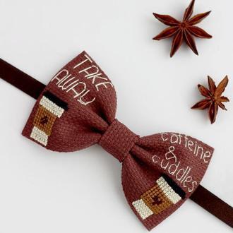 Вышитая галстук-бабочка / Галстук бабочка с вышивкой / Вишитий метелик