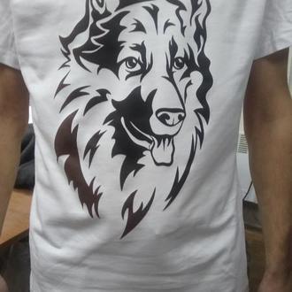 Овчарка. Дизайнерская футболка.