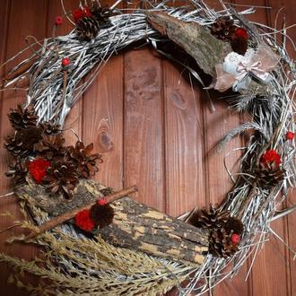 Декоративный HANDMADE венок на дверь для дома и сада. ДЕКОРАТИВНИЙ HANDMADE ВІНОК  ДЛЯ ДОМУ І САДУ