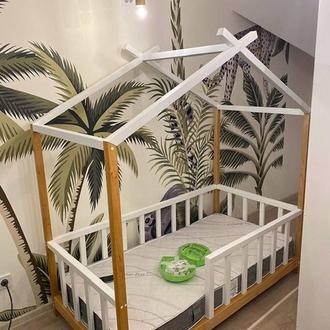 """Ліжечко """"Будиночок у лісі"""" з бука"""