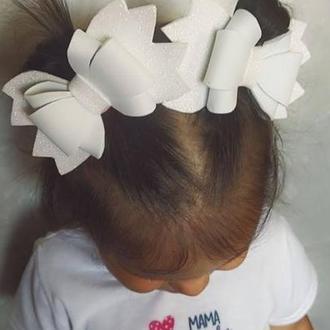Заколка для волос бантик белый