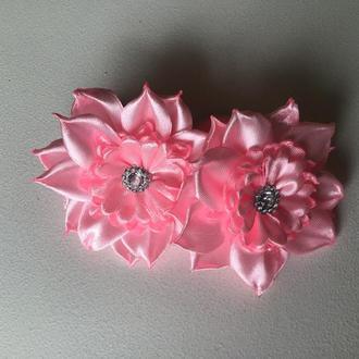 Резиночки для волос «Нежно розовый цветок»