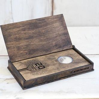 Подарок Боссу,корпоративный подарок,подарок на день рождения на юбилей,монета или брелок серебро 925