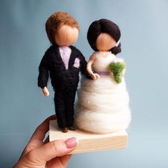Куклы свадебные с шерсти