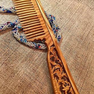 Гребень для волос деревянный
