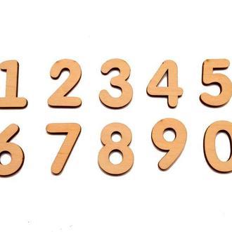 Деревянная Заготовка для Бизиборда Цифры ФАНЕРА Мал. (БЕЗ ПОДЛОЖКИ) Набор Цифр 0-9 дерев'яні цифри