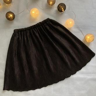 юбка черная гофре