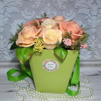 """Букет цветов из мыла """"Розы"""""""