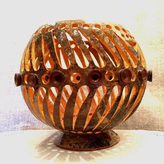 Ваза-декор из тыквы