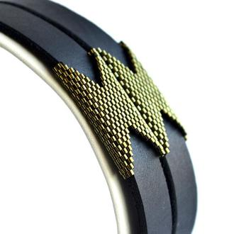 Черный кожаный браслет Женский кожаный браслет