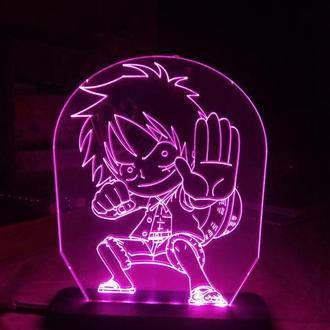 Светильник Ночник аниме Ван Пис One Piece Luffy