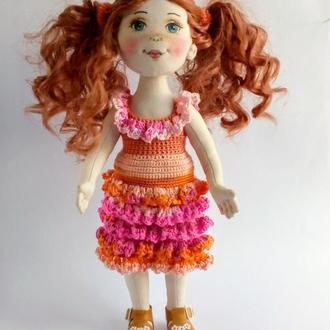 текстильная кукла Лера.