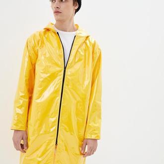 Дождевик мужской DRYDOPE прозрачный желтый с плащевой тканью