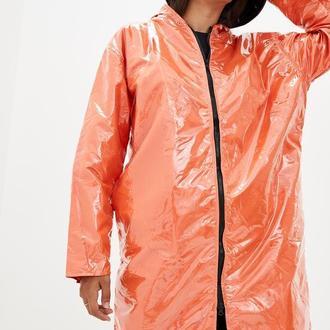 Дощовик жіночий DRYDOPE прозорий помаранчевий з плащової тканини