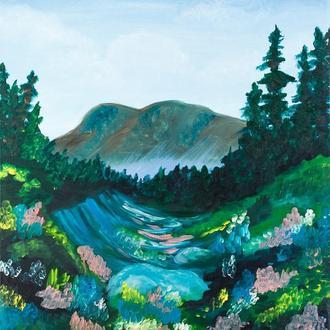 Цветущая долина (картина масло/холст)