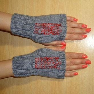 Стильные короткие митенки перчатки без пальцев - новый сезон 2020/2021