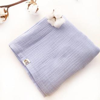 Муслиновая пеленка Баловень Baby Blue