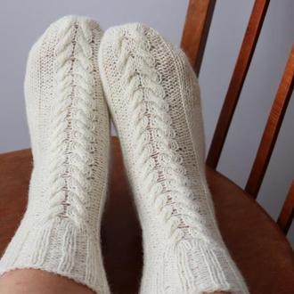 Вязаные носки Карпатские овечки