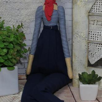 Кукла француженка в стиле Тильда