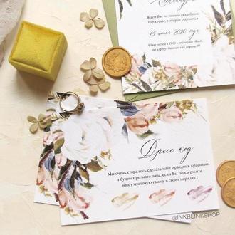 Карточка детали цветы минимализм готовый дизайн