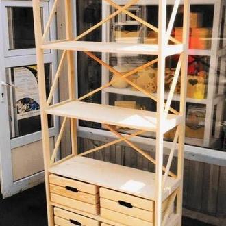 Этажерка Прованс с 4 ящиками (без покрытия)