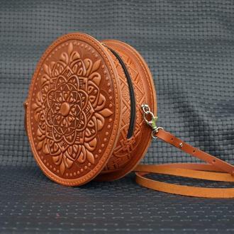 кожаная сумка Орео