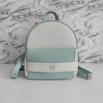 Рюкзак  Hansel . Белый женский  рюкзак . Стильный рюкзак .Кожаный рюкзак для женщин .