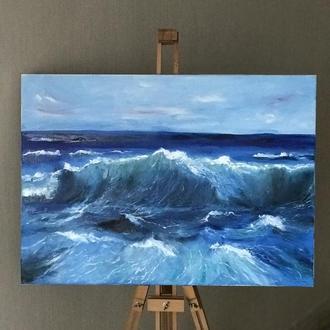 Картина «Волны» маслом. Морской пейзаж