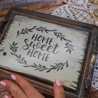 "Винтажный подносик ""Home sweet home"""