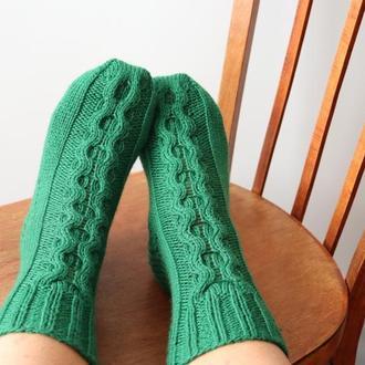 Вязаные носки Домашние