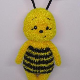 Пчелка вязаная игрушка, пчелочка, пчела